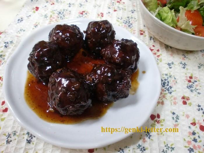 【減塩レシピ】 カリっとファっと甘酢の肉団子