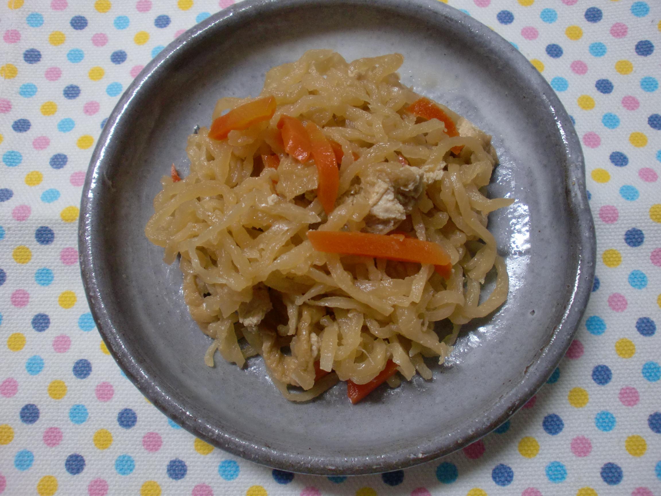 【減塩副菜レシピ】千切り大根の煮物