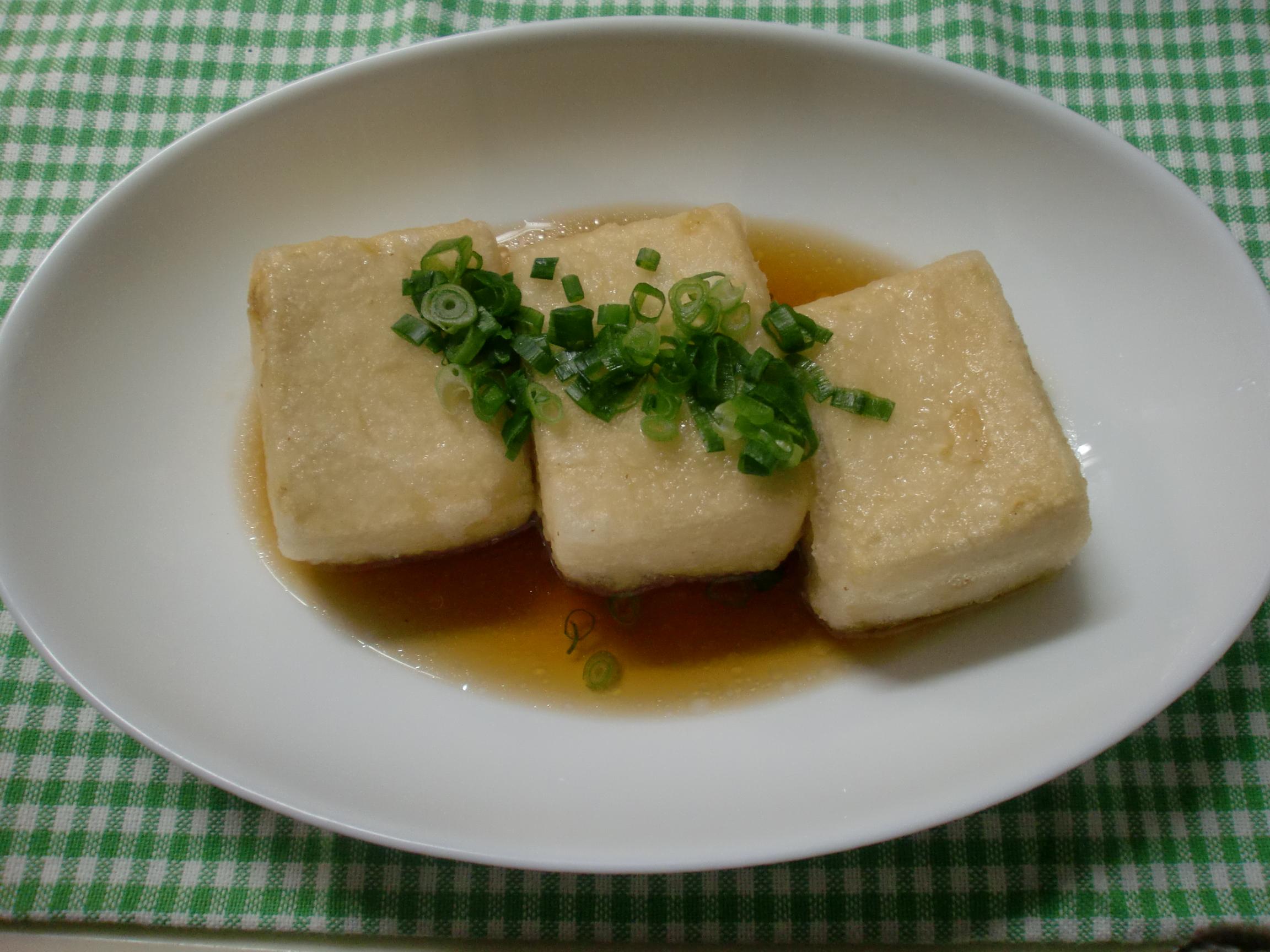 【減塩レシピ】まんぷく揚げ出し豆腐