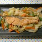 フライパンで作る野菜たっぷり!【減塩のチャンチャン焼き】