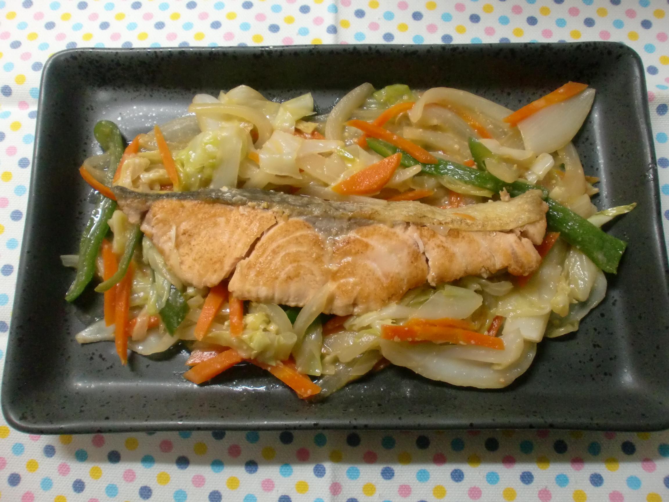【減塩レシピ】野菜たっぷりチャンチャン焼き
