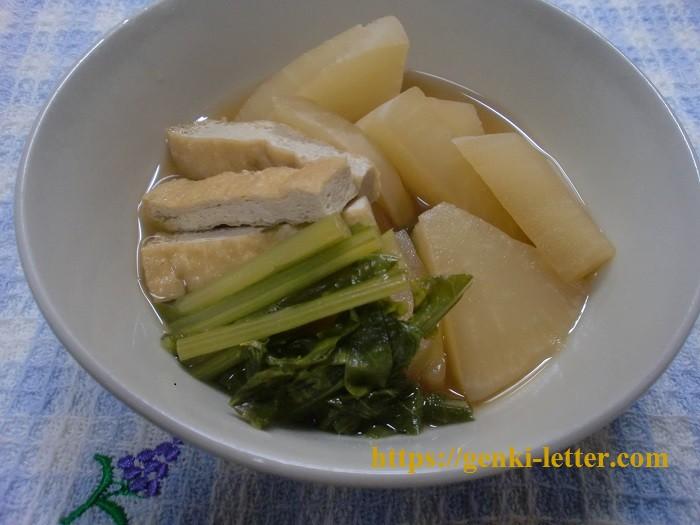春先のカブで作ってみた。減塩で作るカブと油揚げの煮浸し レシピ