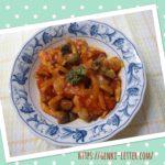 新玉ねぎを使って減塩の鶏肉トマトソース煮込みレシピ