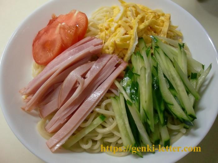 減塩で作る大盛りの冷麺レシピ