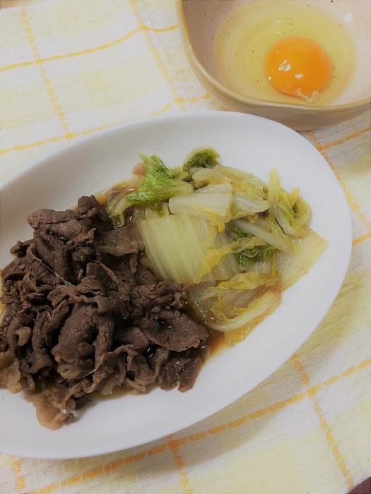 牛肉と白菜を使った減塩のすき焼き煮の作り方。調味料の量は?