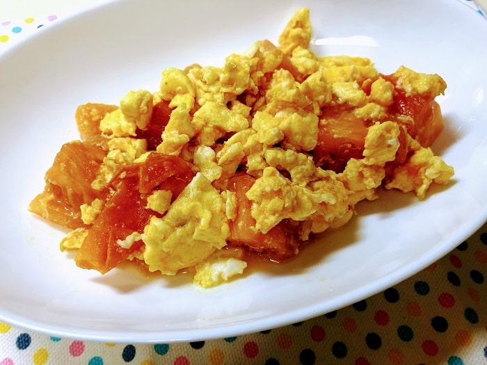 玉子とトマトの中華炒め